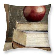 Back To School Apple For Teacher Throw Pillow