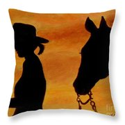 Back To The Barn Throw Pillow