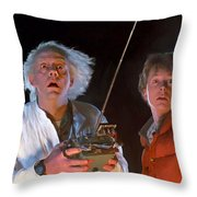 Back To The Future Throw Pillow by Paul Tagliamonte