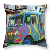 Back To The Sixties Throw Pillow