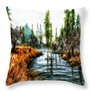 Back To Yesterday Throw Pillow