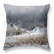 Back Woods Winter Throw Pillow