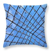 Backbend In The Louvre Throw Pillow