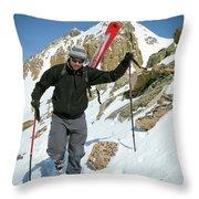 Backcountry Skiing, Citadel Peak, Co Throw Pillow
