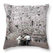 Backgammon At The Ancient Wall Throw Pillow