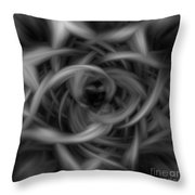 Background Flames Bw Dark Throw Pillow
