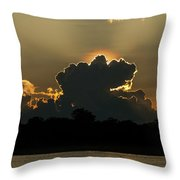 Backlit Clouds During Sunset Over Lago Throw Pillow