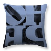 Backside Of Hope In Cyan Throw Pillow