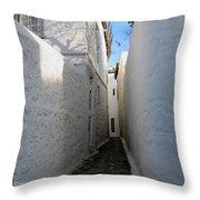 Backstreet In Hydra Throw Pillow