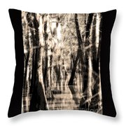 Backwater Cajun Country Throw Pillow