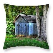 Backyard Barn Throw Pillow