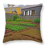 Backyard Garden In Louisbourg Living History Museum-1744-ns Throw Pillow