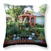 Backyard Garden Throw Pillow