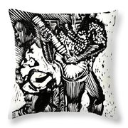 Backyard Music Throw Pillow