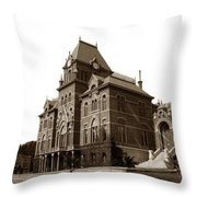 Bacon Hall University Of California Berkeley Circa1895 Throw Pillow