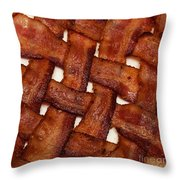 Bacon Weave Square Throw Pillow