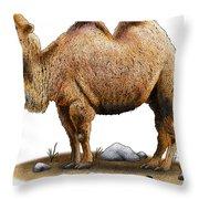 Bactrian Camel Throw Pillow