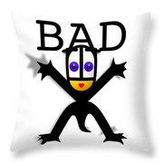 Bad Babe Throw Pillow