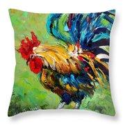 Bad Barnyard Bird Throw Pillow