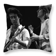 Bad Company At Work In 1977 Throw Pillow