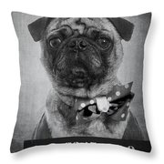 Bad Dog Throw Pillow by Edward Fielding