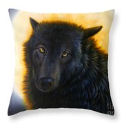Bad Girls Have Halos Too Throw Pillow