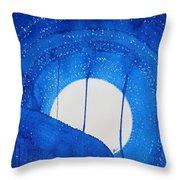 Bad Moon Rising Original Painting Throw Pillow