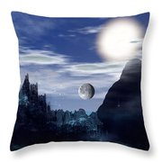 Bad Moons On The Rise Throw Pillow