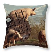 Bad Pigs Throw Pillow