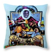 Bad Santa Throw Pillow