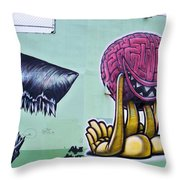 Bad Thoughts Throw Pillow