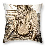 Bad Times Pilgrim Gotta Be Ready Throw Pillow by Randall Branham