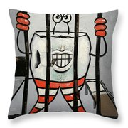 Bad Tooth Throw Pillow by Anthony Falbo