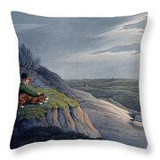 Badger Catching, 1820 Throw Pillow