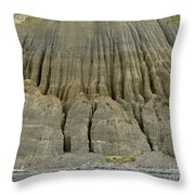 Badland Erosion Of Soft Conglomerate Sediment Throw Pillow