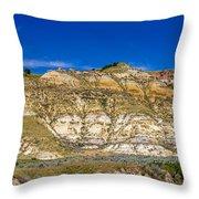 Badlands 3 Throw Pillow