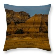 Badlands In Color Throw Pillow