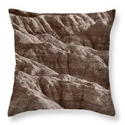 Badlands Light Bw Throw Pillow