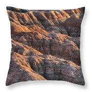 Badlands Light Throw Pillow