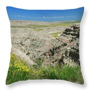 Badlands National Park  1 Throw Pillow