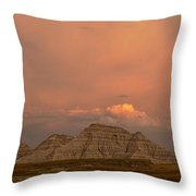 Badlands Softlight South Dakota Throw Pillow