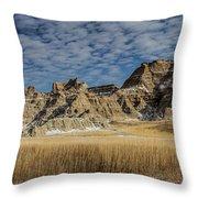 Badlands South Dakota Throw Pillow