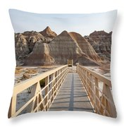 Badlands Walkway Throw Pillow