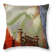 Badshahi Mosque 2 Throw Pillow by Catf