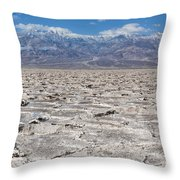 Badwater Basin - Death Valley Throw Pillow
