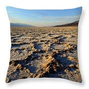 Badwater Basin Throw Pillow