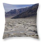Badwater Basin Vista Throw Pillow