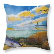 Fishing Baffin Bay Texas  Throw Pillow