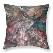 Bag Of  Frogs Throw Pillow