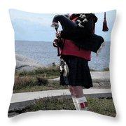 Bag Piper Throw Pillow